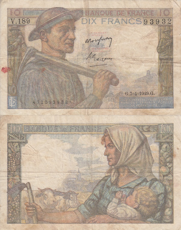 1941-1949 Issue - 10 Francs
