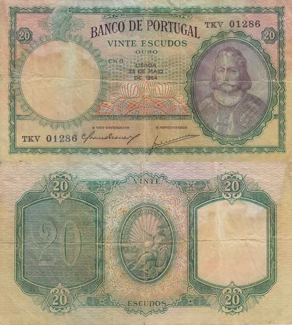 1941-1959 Issue - 20 Escudos