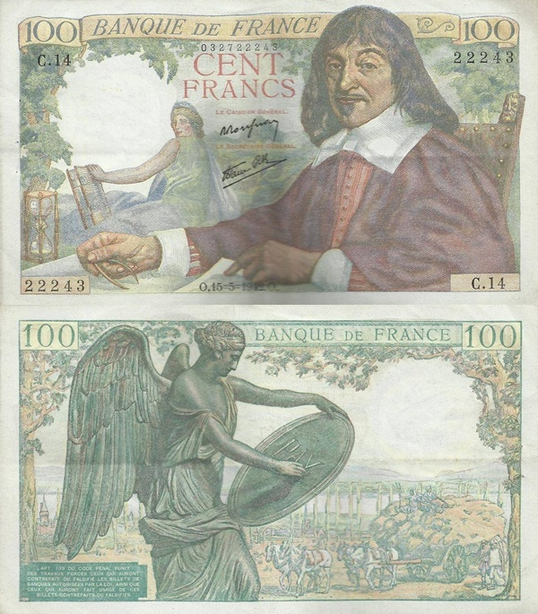 1942-1944 Issue - 100 Francs