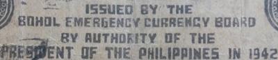 Emisiunea de urgență 1942 - Bohol Emergency Currency Board