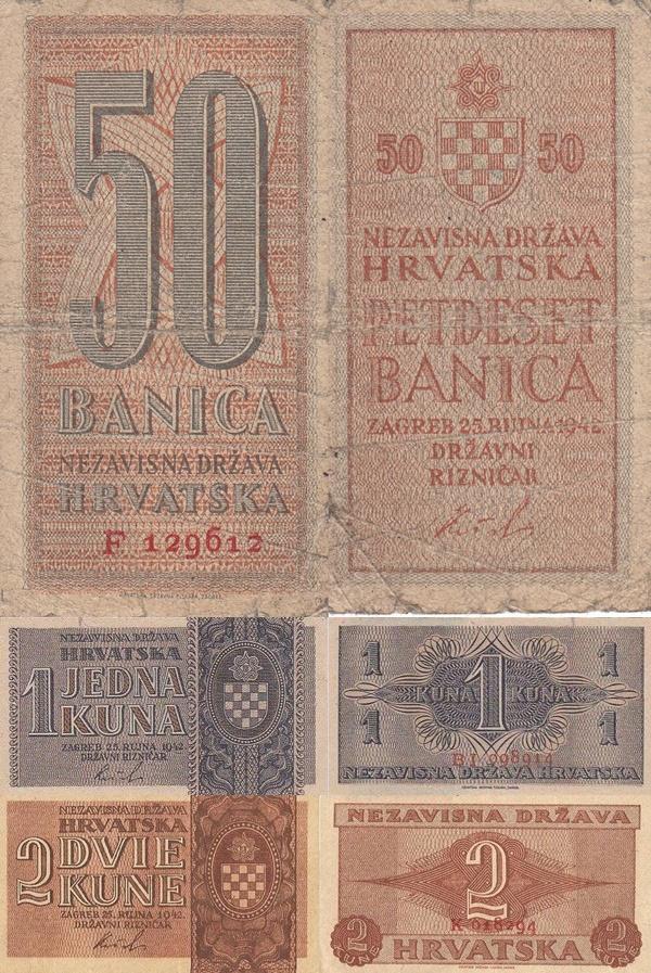 1942 Issue - Nezavisna Drzava Hrvatska