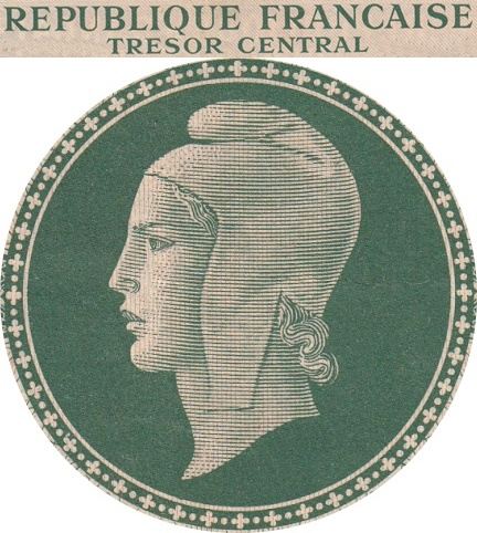 1943, 1944 ND Issue - Trésor Central