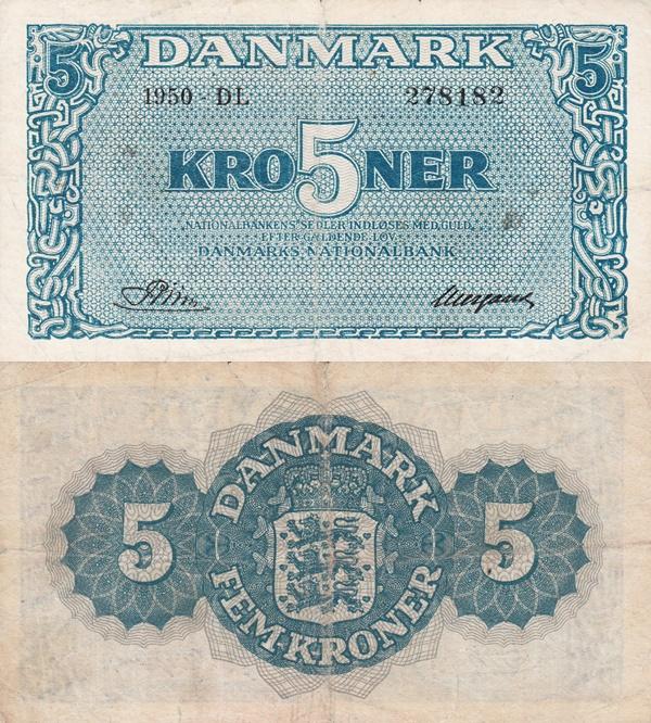 1944-1950 - 5 Kroner