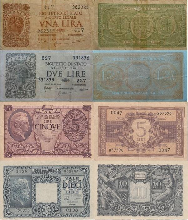 1944 Issue - Biglietto Di Stato