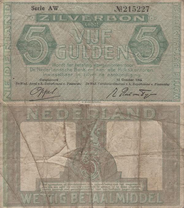 1944 Issue - ZILVERBON