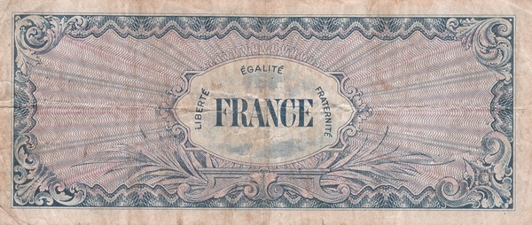 1944 Second Issue - Provisional French Franc Currency