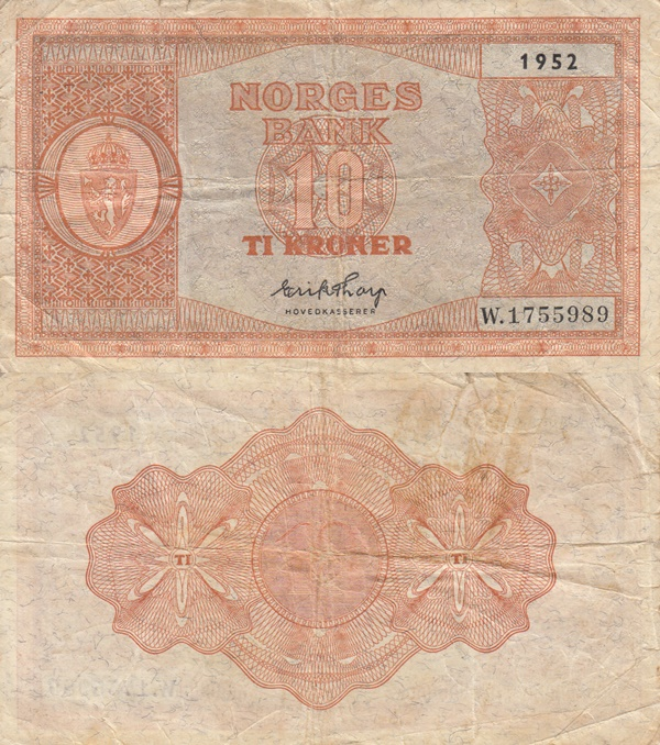 1945-1953 Issue - 10 Kroner
