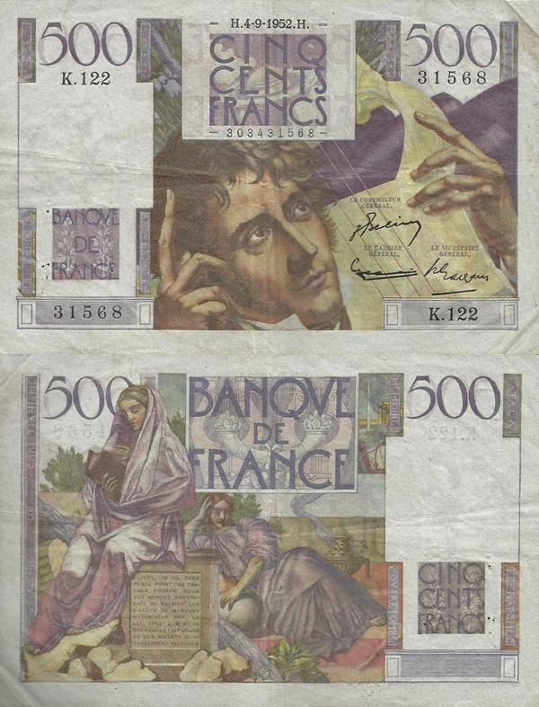 1945-1953 Issue - 500 Francs