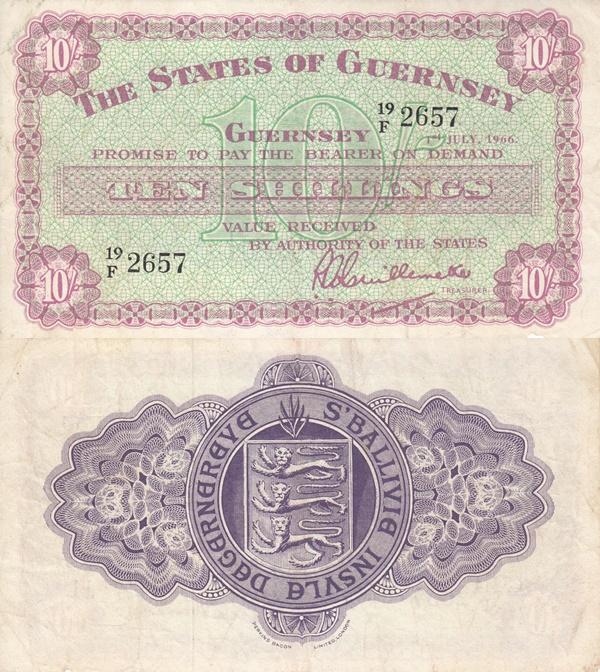 Emisiunea 1945-1966 - 10 Shillings