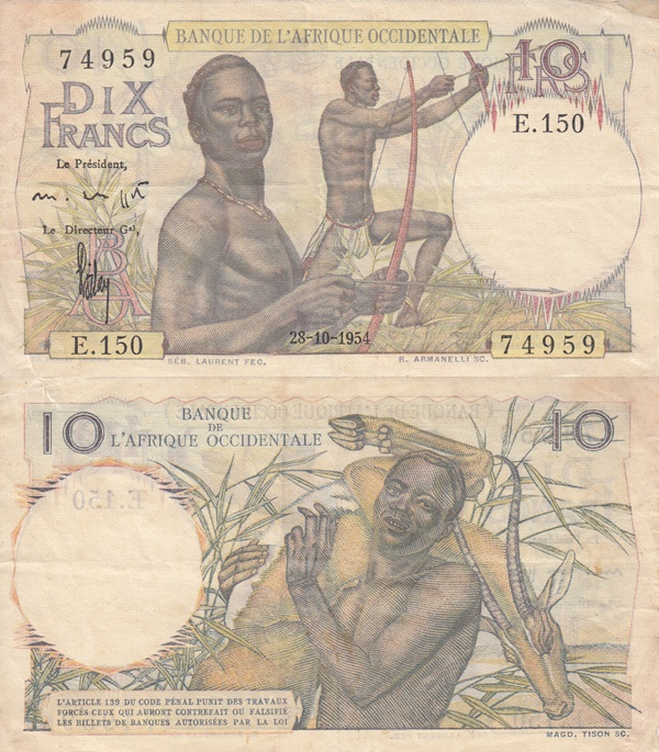 1946-1954 Issue - 10 Francs (Banque de l'Afrique Occidentale)