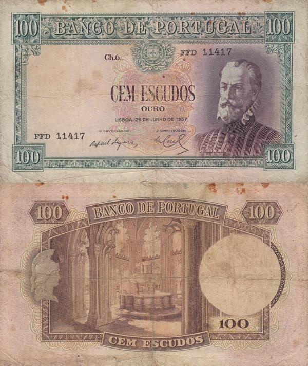 1947 Issue - 100 Escudos