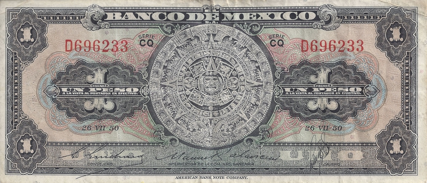 1948-1950 Issue (1 Peso, 10 Pesos, 20 Pesos)