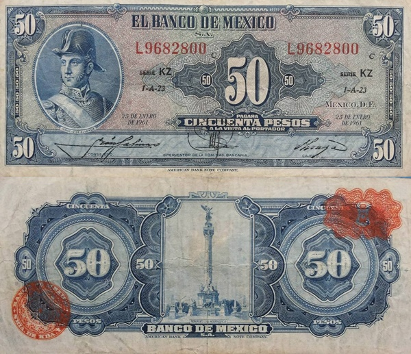 1948-1972 Issue - 50 Pesos