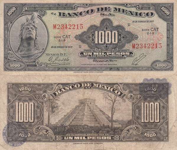 1948-1977 Issue - 1000 Pesos