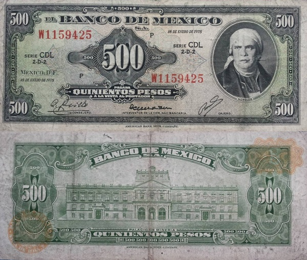 1948-1978 Issue - 500 Pesos