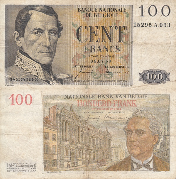 1952-1959 Issue - 100 Francs