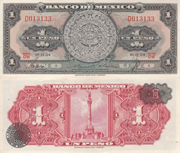 1954 Issue - 1 Peso