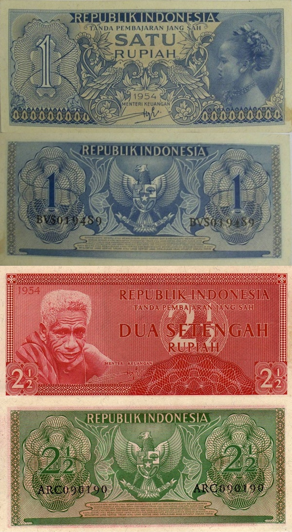 1954 Issue - Republik Indonesia