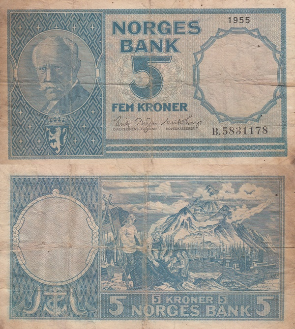 1955-1963 Issue - 5 Kronor