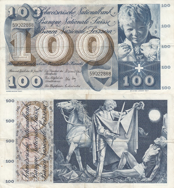 1956-1973 Issue - 100 Franken