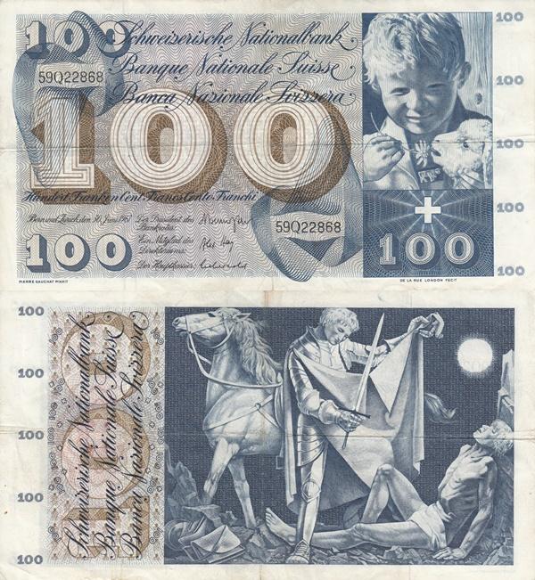 Emisiunea 1956-1973 - 100 Franken