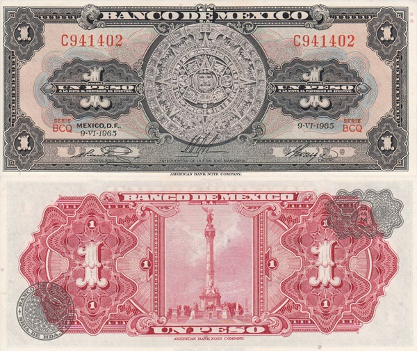 1957-1970 Issue - 1 Peso