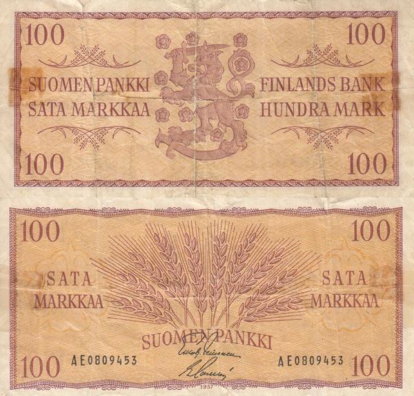 1957 Issue - 100 Markkaa/ Mark