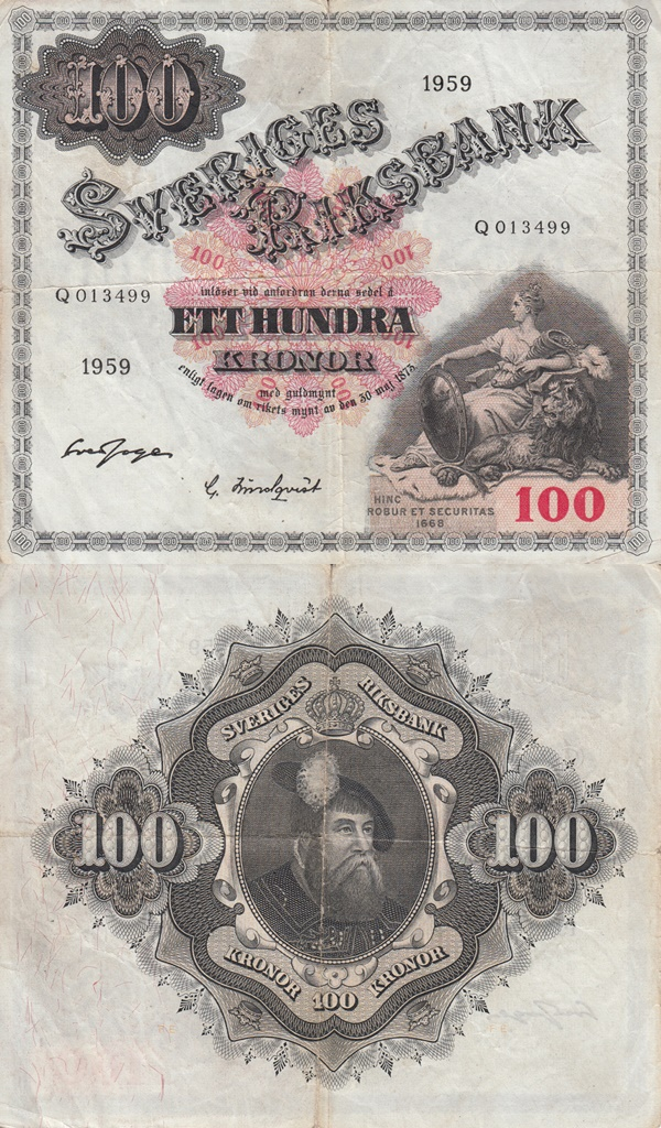 1959-1963 Issue - 100 Kronor