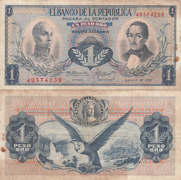1959-1977 Issue - 1 Peso Oro