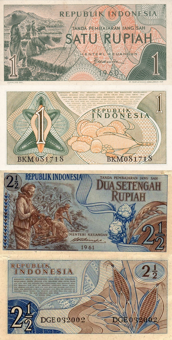 Emisiunea 1960-1961 - Republik Indonesia
