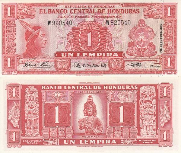 1961 & 1965 Issue - 1 Lempira