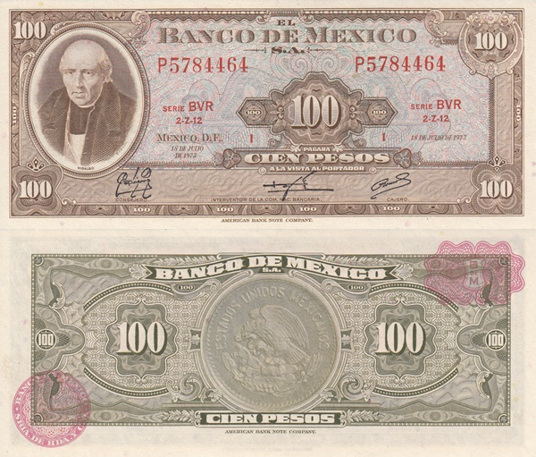 1961-1973 Issue - 100 Pesos