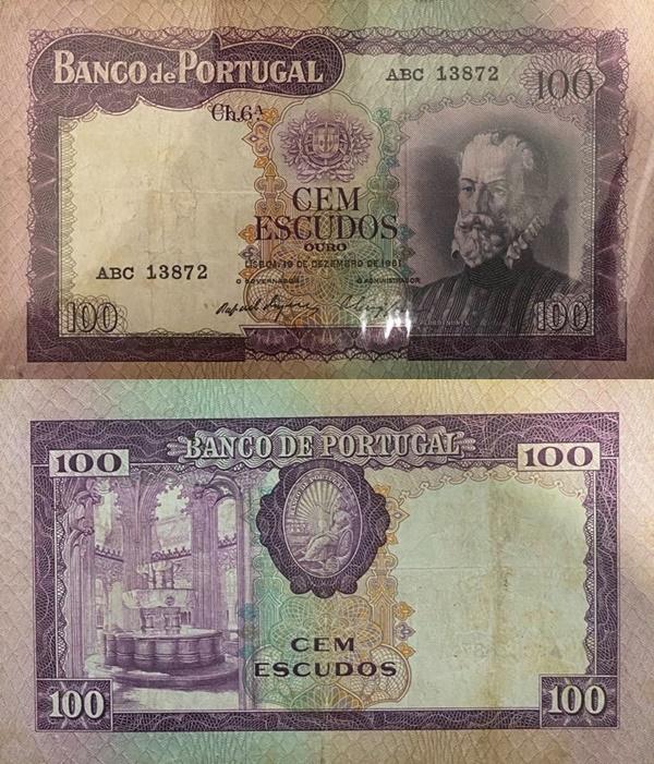 Emisiunea 1961 - 100 Escudos