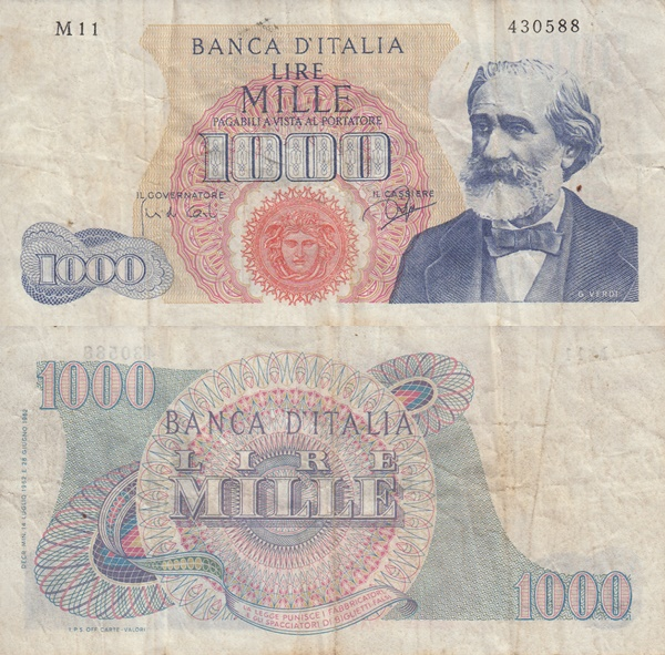 1962-1968 Issue - 1000 Lire