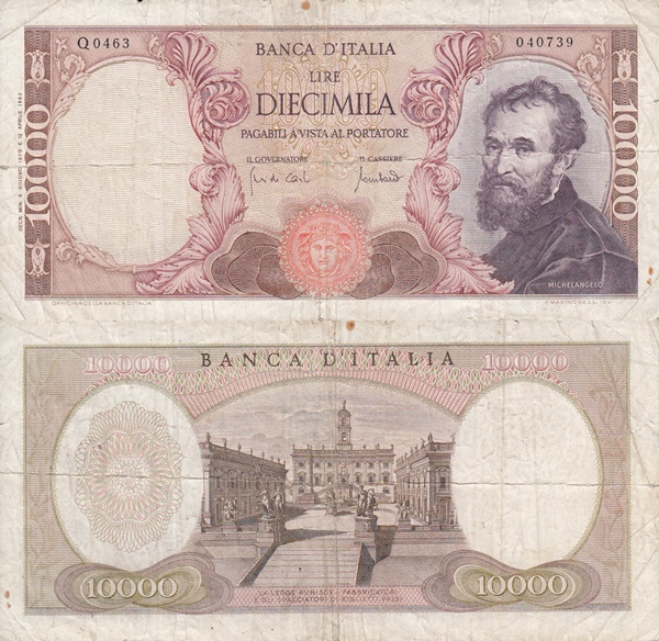 1962-1973 Issue - 10,000 Lire