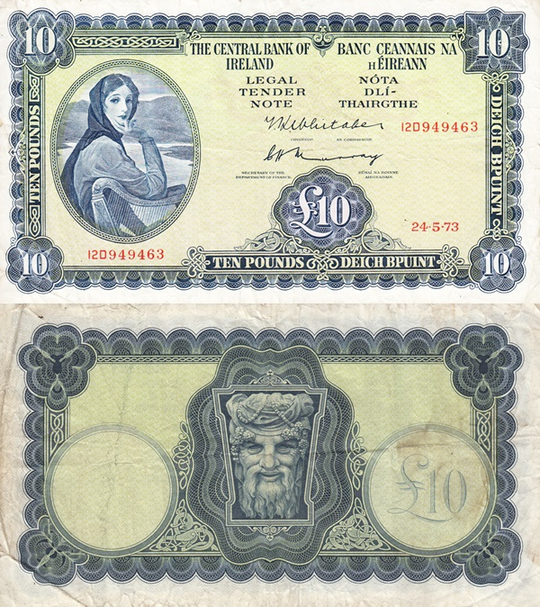 1962-1976 Issue - 10 Pounds