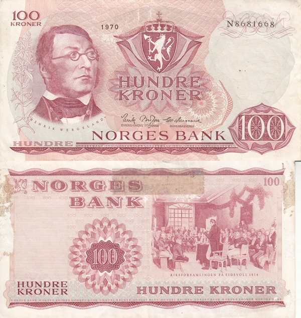 1962-1987 Issue - 100 Kroner