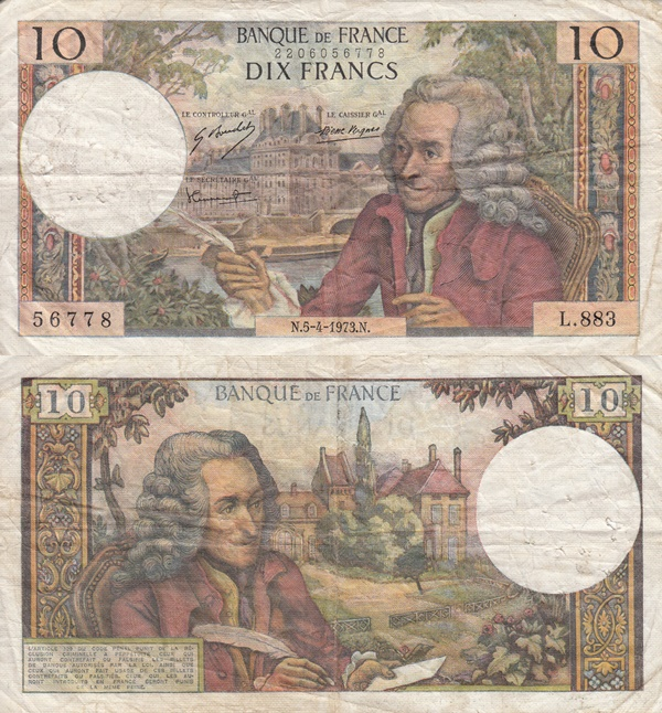 1963-1973 Issue - 10 Francs