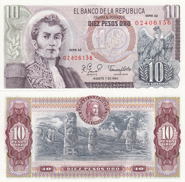 1963-1980 Issue - 10 Pesos Oro