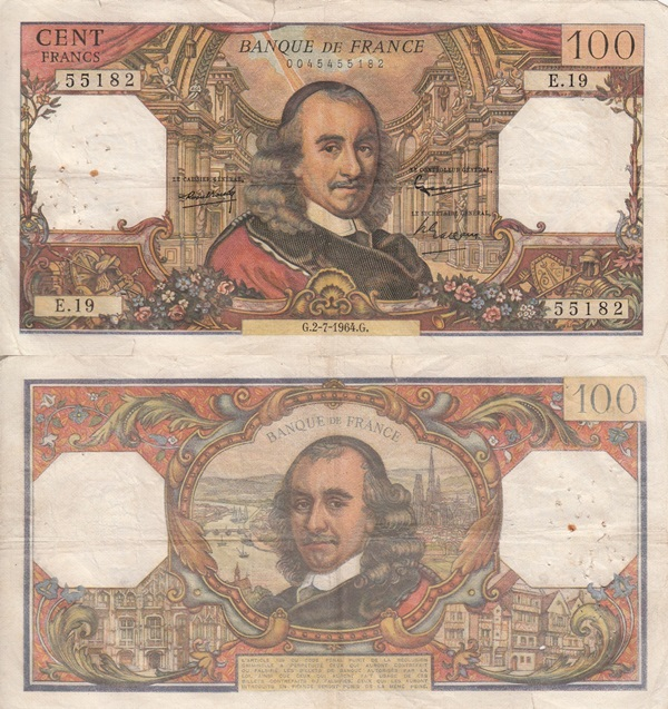 1964-1979 Issue - 100 Francs