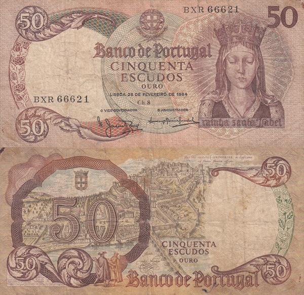 1964 Issue - 50 Escudos