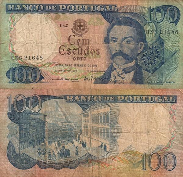 Emisiunea 1965-1978 - 100 Escudos