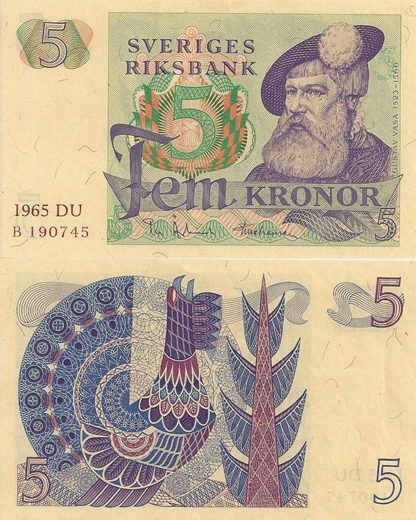 Emisiunea 1965-1981 - 5 Coroane