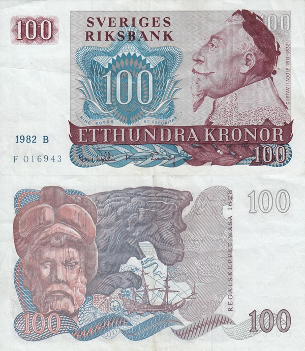 1965-1985 Issue - 100 Kronor
