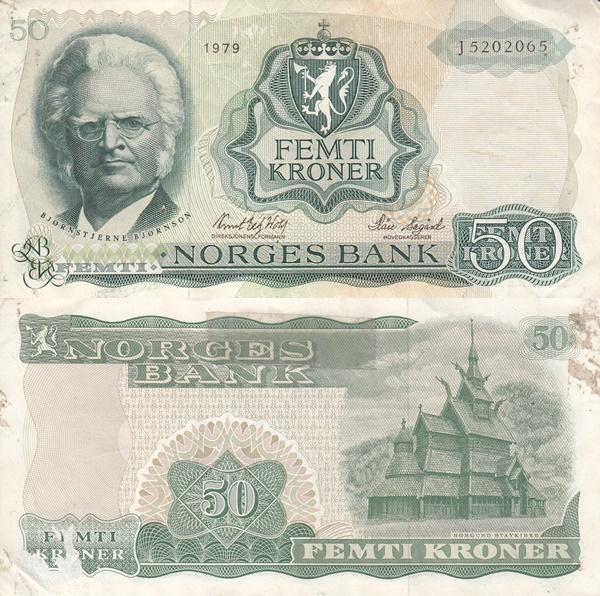 1966-1983 Issue - 50 Kroner