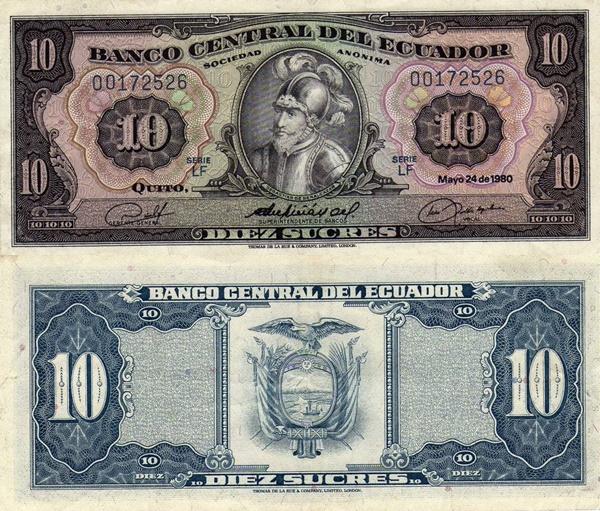1968, 1971, 1980, 1982, 1983 Issue - 10 Sucres