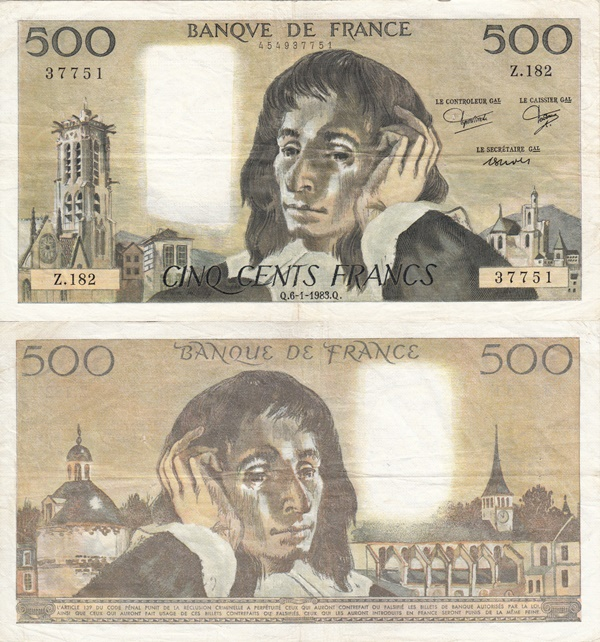 1968-1993 Issue - 500 Francs