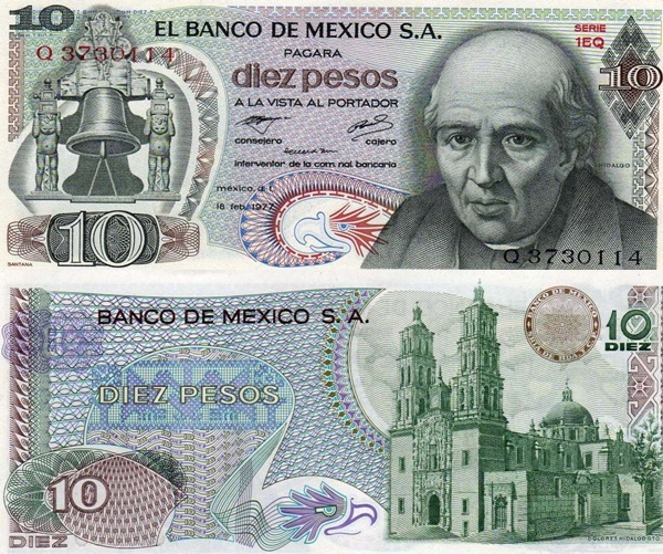 1969-1977 Issue - 10 Pesos