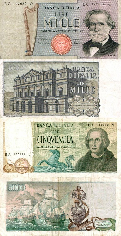 Emisiunea 1969 - 1981 (Banca Italiei - Banca d'Italia: Decreto Ministeriale 26.02.1969; Decreto Ministeriale 15.05.1971)