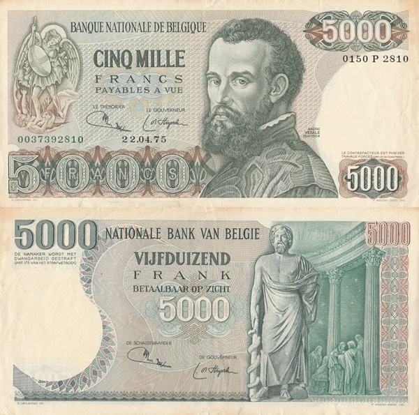 1971-1977 Issue - 5000 Francs